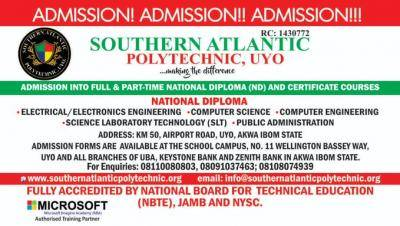 Southern Atlantic Polytechnic 2020/2021 Admission