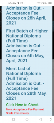 EDEPOLY HND full-time (1st Batch) Admission List, 2020/2021