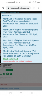 EDEPOLY notice on acceptance fee payment deadline
