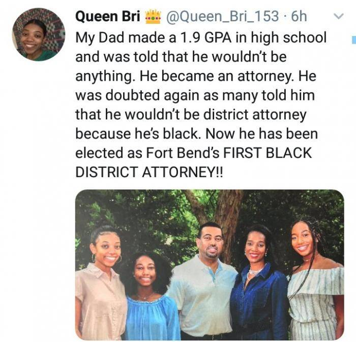 Man Who Had 1.9 GPA in School, Was Seen as a Failure, Becomes First Black District Attorney
