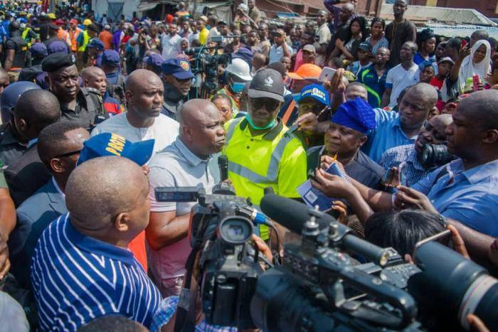 Governor Ambode at the Scene of the Collapsed School Building, More Photos From the Rescue Operation