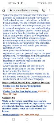 LAUTECH opens portal for harmattan semester course registration, 2020/2021