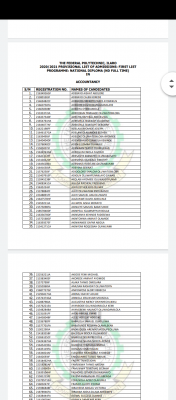 Ilaro Poly ND Full-time Admission List, 2020/2021 now on school portal