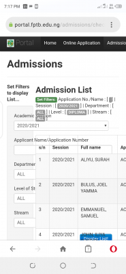 Fed Poly, Bauchi diploma admission list for 2020/2021 session