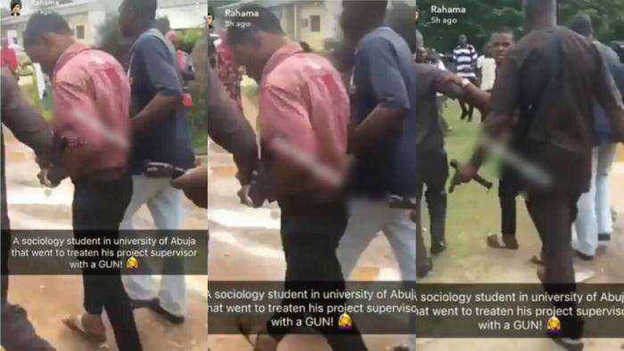 UNIABUJA Student Allegedly Caught Threatening His Project Supervisor With a Gun