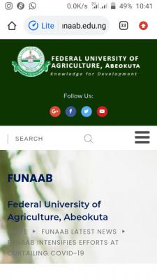 FUNAAB intensifies efforts at curtailing COVID-19