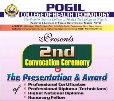 POGIL College of Health Technology announces 2nd convocation ceremony