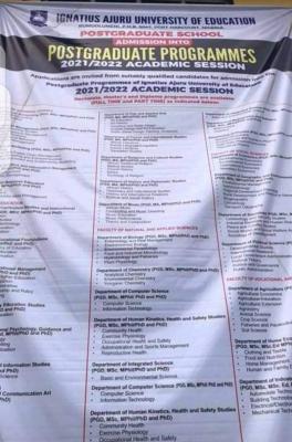 IAUE Postgraduate Admission form for 2021/2022 session