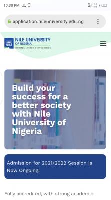 Nile University Post-UTME/DE 2021: Eligibility and Registration Details