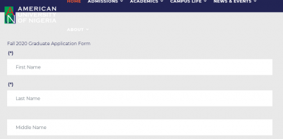 American University Postgraduate admission for 2020/2021 session