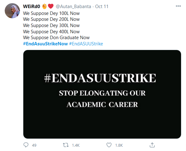 #EndAsuuStrikeNow is Curently Trending on Social Media. Read why