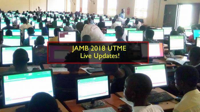 JAMB 2018 UTME 16th March - Live Updates!