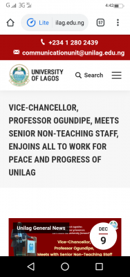 UNILAG VC enjoins staff to work for the peace and progress of the institution