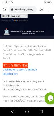 MAN Oron extends post-UTME application deadline for 2020/2021 session
