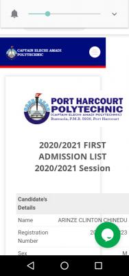 Elechi Amadi Polytechnic 1st batch admission list for 2020/2021 session
