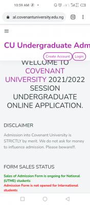Covenant University Post-UME/DE 2021: Eligibility, Cost and Registration Details