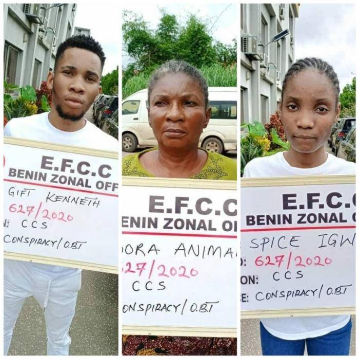 22-Year-old UNIPORT Undergraduate Arrested by EFCC Alongside Girlfriend, Mother for Interet Scam