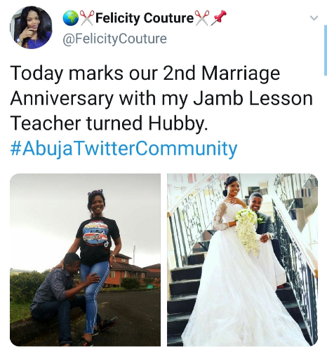 Woman ecstatic as she ties the knot with her JAMB lesson teacher