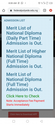 EDEPOLY ND full-time Admission List now on the school's portal, 2020/2021