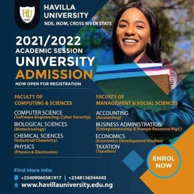 Havilla University Post-UTME 2021: Eligibility and Registration Details