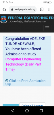 EDEPOLY ND Daily Part-Time (DPT) & Regular Part-Time Admission List, 2020/2021