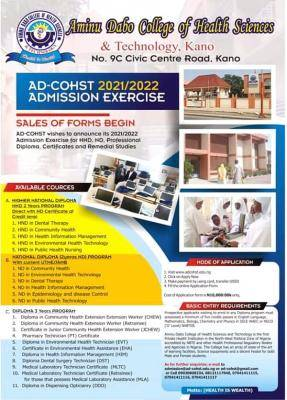 AD-CHOST ND, HND and diploma admission for 2021/2022 session