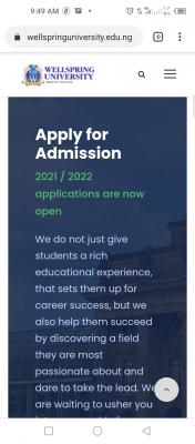 Wellspring University Post-UTME 2021: Eligibility and Registration Details