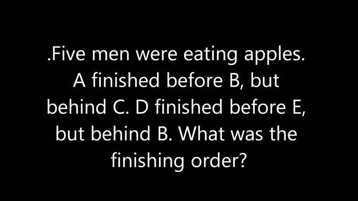Brain Teaser! Can You Arrange This Puzzle in it's Respective Order?