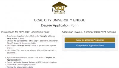 Coal City University Post-UTME 2020: Cut-off mark, eligibility and Registration details