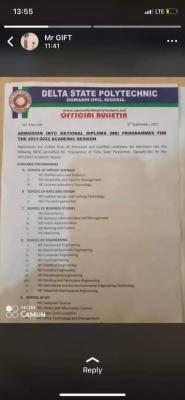 Delta Polytechnic Ogwashiuku Post-UTME: Eligibility and Registration Details