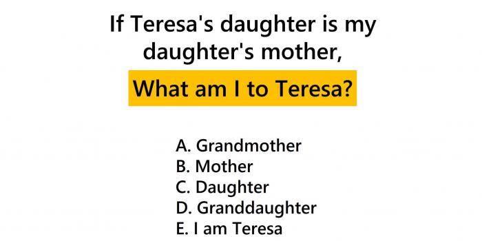 Brain Teasers: What Am I To Teresa?