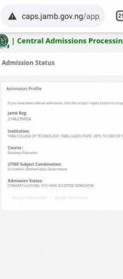 Yabatech ND full-time admission list, 2020/2021 out on JAMB CAPS