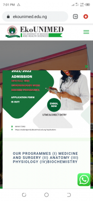 Eko University of Medicine and Health Sciences Post-UTME/DE 2021: Eligibility and Registration Details