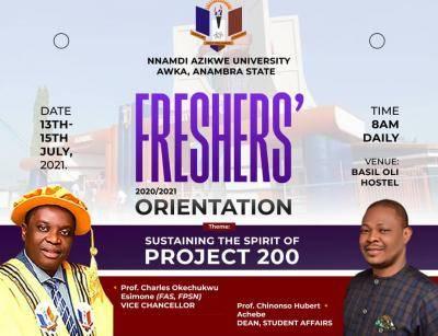 UNIZIK Orientation Programme for 2020/2021 session