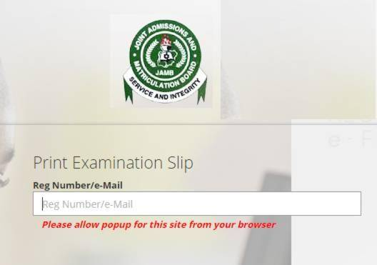 JAMB 2020 Exam Slip Printing Begins March 7th