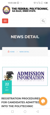 Fed Poly Ile-Oluji registration procedure for candidates admitted in the 2020/2021 session