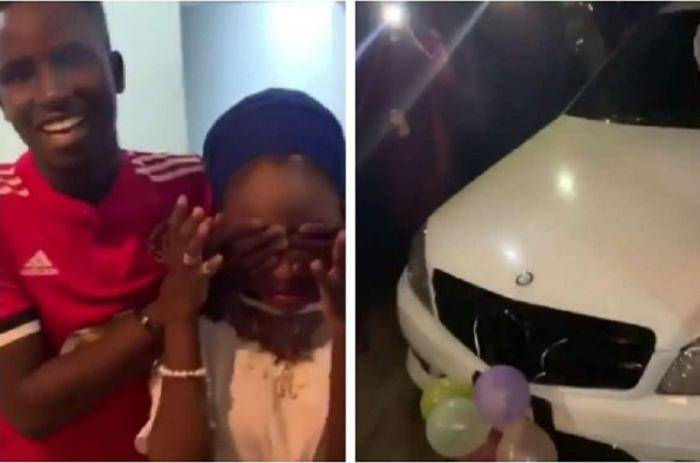 19-year-old Student Surprises His Girlfriend With a Benz and More on Her Birthday
