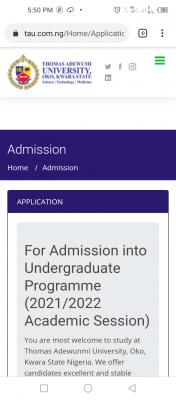 Thomas Adewunmi University Post-UTME 2021: Cut-off mark, Eligibility and Registration details