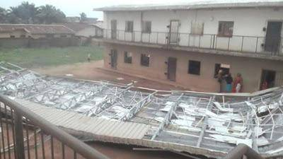 School Building Collapses in Owerri Following a Heavy Rainstorm