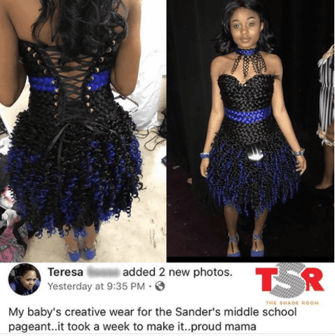 See The Creative Outfit a Student Wore for Her School Pageant