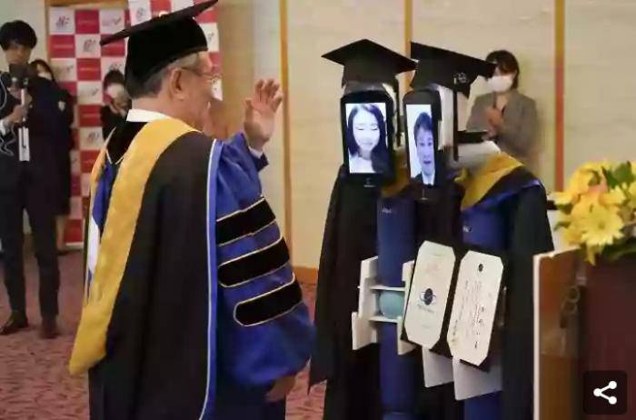 A Japanese University Conducts its Graduation Ceremony Using Robots Amidst Covid19 Fears