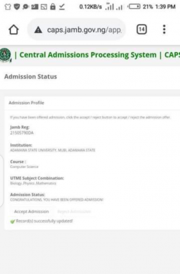 ADSU admission list, 2020/2021 out on JAMB CAPS