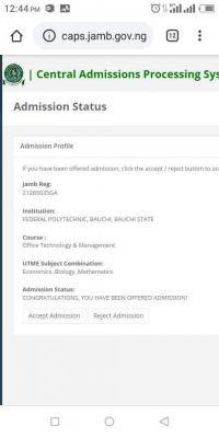 Fed Poly Bauchi ND admission list, 2020/2021 out on JAMB CAPS