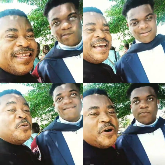 Your m*mu go pass my own- Victor Osuagwu jokingly tells his son as he graduates from school (video)