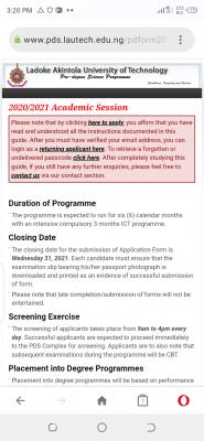 LAUTECH extends Pre-degree application deadline for 2020/2021 session