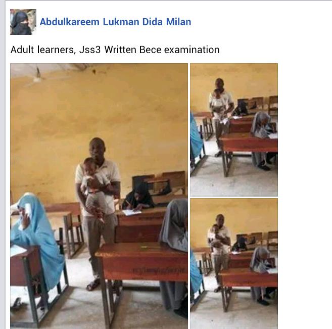 Teacher Babysits a Student's Child as she writes JSS3 BECE Exam