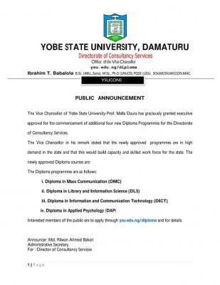 YSU introduces new diploma programmes