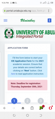 UNIABUJA institute of education admission for 2021/2022 session
