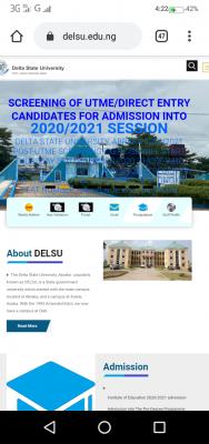 DELSU Post UTME/DE screening date for 2020/2021 session