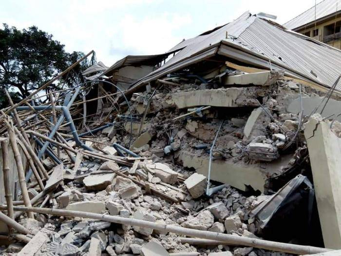 Newly Completed Student's Hostel Collapses in UNIZIK